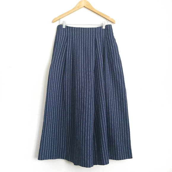 Oak + Fort Pin Stripe Lag&Look Wide Leg Culottes